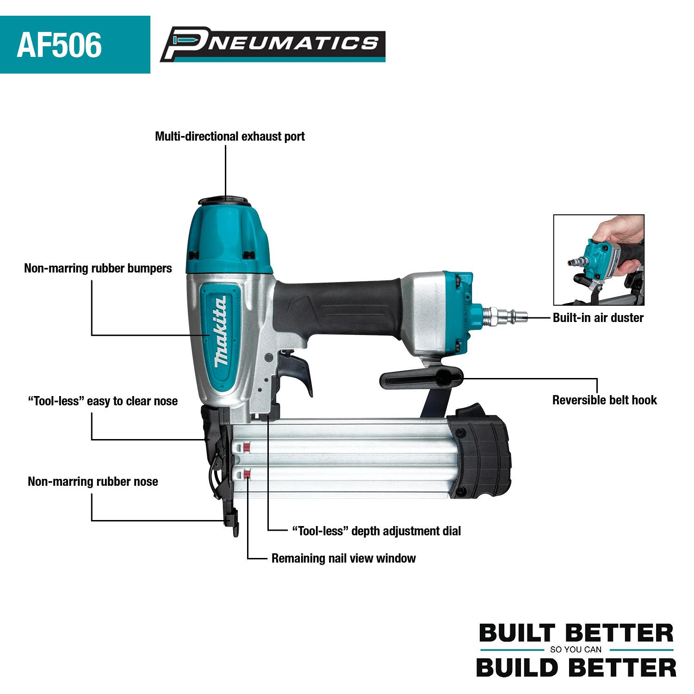 Makita AF506 Key Features